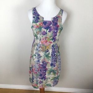Anthro Edme & Esyllte Floral Shift Linen Dress